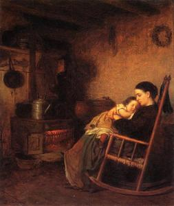 Jonathan Eastman Johnson - mutter und kind