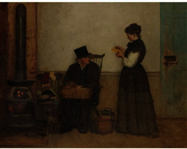 Der Hausierer (Nantucket) von Jonathan Eastman Johnson (1824-1906, United Kingdom) | Kunstreproduktionen Jonathan Eastman Johnson | WahooArt.com