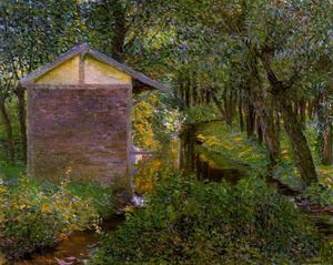 Lilla Cabot Perry - Bach und Wash-house , Giverny