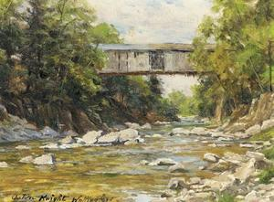 Louis Aston Knight - überdachte brücke - Wallingford , Connecticut