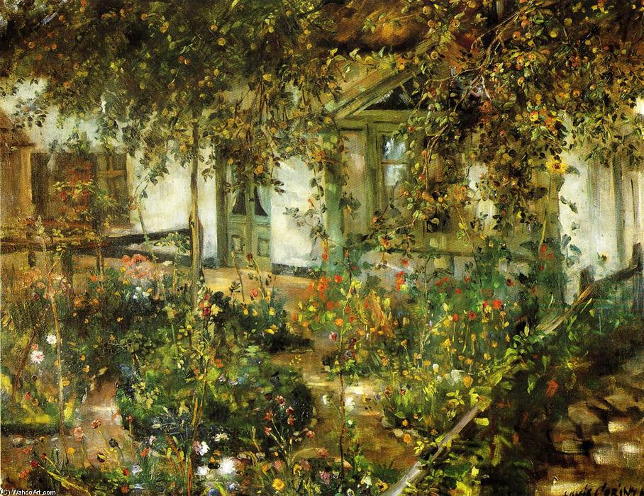 Farmyard in Bloom, öl auf leinwand von Lovis Corinth (Franz Heinrich Louis) (1858-1925, Netherlands)