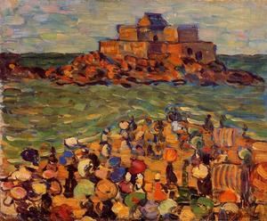 Maurice Brazil Prendergast - Chateaubriand Grab, St Malo (auch bekannt als St. Malo - Chateaubriand Grab)