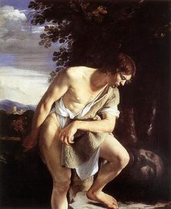 Orazio Gentileschi - david `contemplating` der kopf von goliath