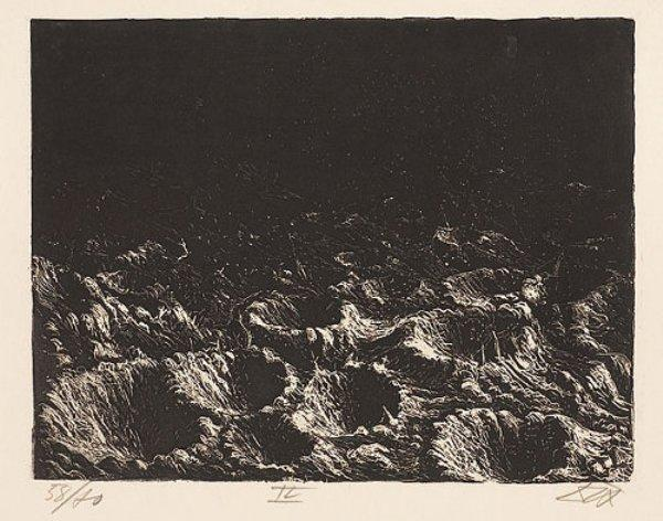 crater feld in der n he dontrien beleuchtet durch fackeln von otto dix 1891 1969 germany. Black Bedroom Furniture Sets. Home Design Ideas