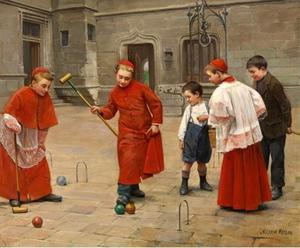 Paul Charles Chocarne Moreau - Playing Croquet