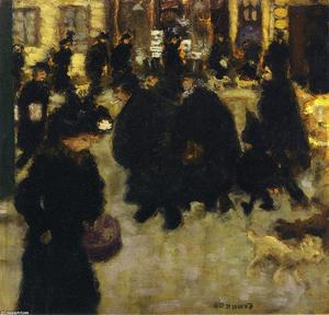 Pierre Bonnard - figuren in der straße