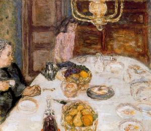 Pierre Bonnard - Mittagessen in Le Grand-Lampen