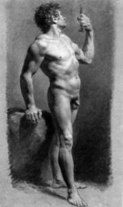 Pierre-Paul Prud'hon - Male Nude Drehen