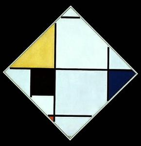 Piet Mondrian - Diagonal Composition