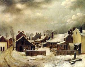 Seymour Joseph Guy - Brooklyn im Winter