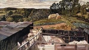 Stanley Spencer - Ricketts Farm, Cookham Dene
