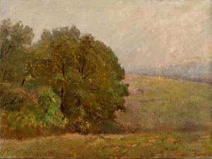 Theodore Clement Steele - Ein misty tag ( Wo der Hügel are Verloren in Nebel )
