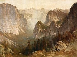 Thomas Hill - Piute Indian Encampment, Yosemite