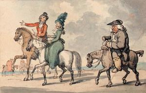 Thomas Rowlandson - Gentlefolk out riding