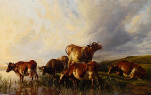 Thomas Sidney Cooper - Cattle Wattering