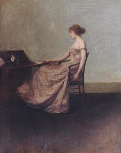 Thomas Wilmer Dewing - der brief