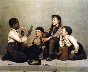 John George Brown - ein karte Kniff