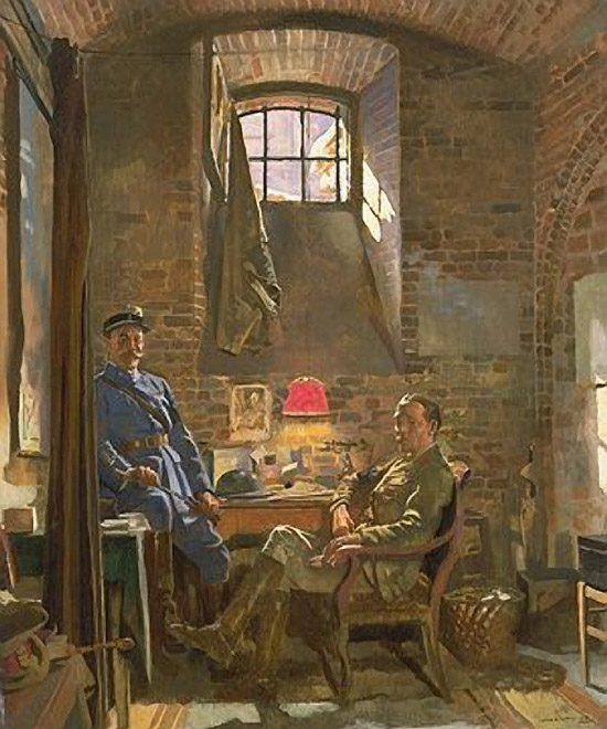 Keller, Amiens von William Newenham Montague Orpen (1878-1931, Ireland)