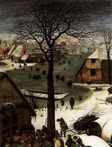 Pieter Bruegel The Elder - Die Zählung in Bethlehem (Detail)