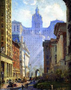 Colin Campbell Cooper - Chambers Street und die Municipal Building, NYC