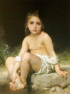 William Adolphe Bouguereau - kind bei bad