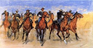 Frederic Remington - Colored Troopers zur Rettung