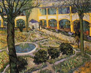 Vincent Van Gogh - Hof des Hospital in Arles