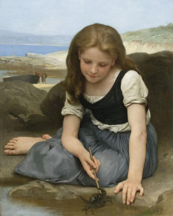 der krabbe von William Adolphe Bouguereau (1825-1905, France)