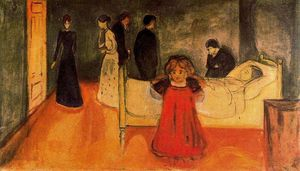 Edvard Munch - der tote mutter und  Kind