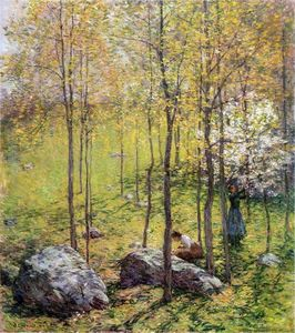 Willard Leroy Metcalf - Hartriegel-Blüten