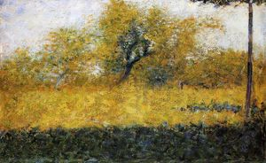 Georges Pierre Seurat - rand wald Frühling