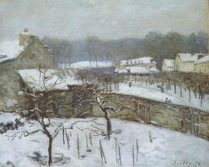 Alfred Sisley - Effect of Snow, Marly