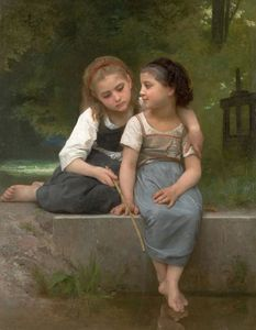 William Adolphe Bouguereau - Die Fischerei auf Frogs