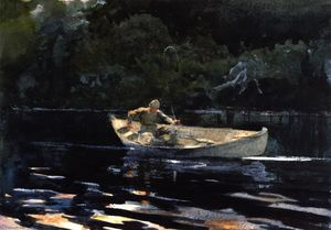 Winslow Homer - Angeln in den Adirondacks