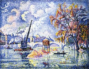 Paul Signac - Flood am Pont Royal Paris bekannt
