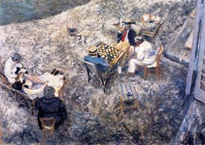 Jean Edouard Vuillard - A Game of Draughts