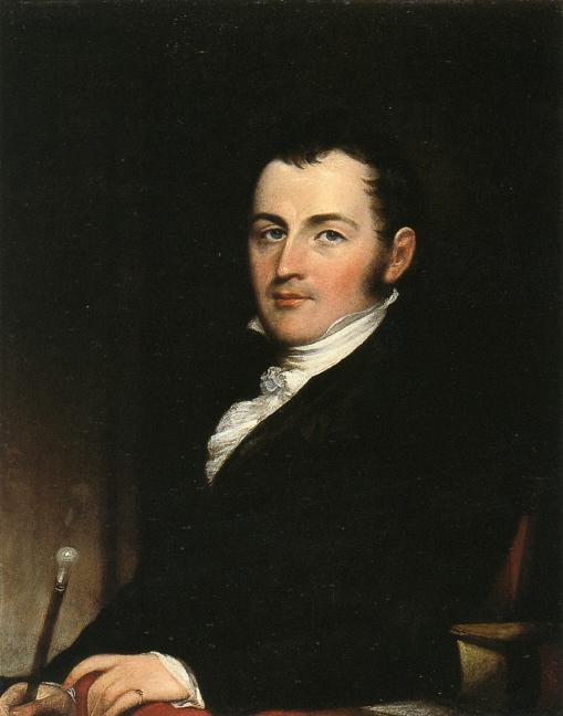 George Gallagher, New Yor,, öl auf tafel von John Trumbull (1756-1843, United Kingdom)