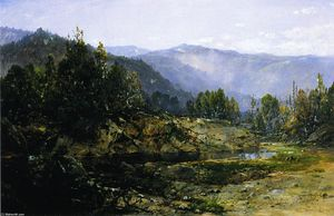 William Louis Sonntag - Ein grauer Morgen - Ossipee, New Hampshire