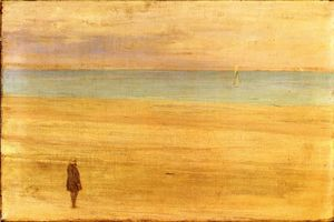 James Abbott Mcneill Whistler - Harmony in blau und silber : Trouville