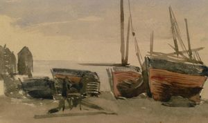 James Abbott Mcneill Whistler - Hastings : angeln boote