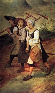 Pieter Bruegel The Elder - Heuernte (Detail)