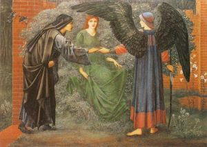 Edward Coley Burne-Jones - herz von dem rose