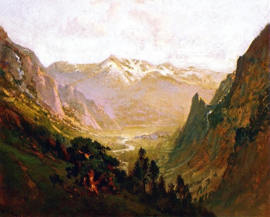 high sierra schlucht, öl an segeltuch von William Keith (1838-1911, Scotland)