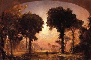 Jasper Francis Cropsey - Ideale Landschaft: Hommage an Thomas Cole