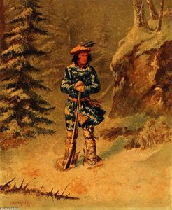 Cornelius David Krieghoff - In Doubt der Piste, Iroquois Indian