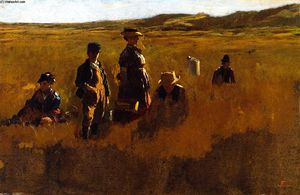 Jonathan Eastman Johnson - in der felder