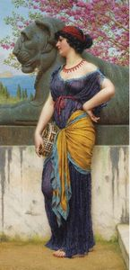 John William Godward - In der Grove des Tempels von Isis