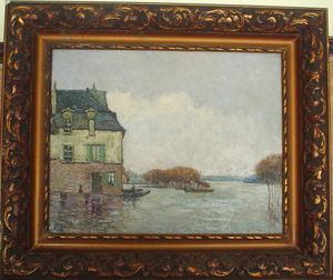 Alfred Sisley - Inodation, Flood (Fälschung?)