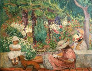 Henri Lebasque - In den Palmen am Sainte Maxime