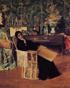 William Merritt Chase - in der studio